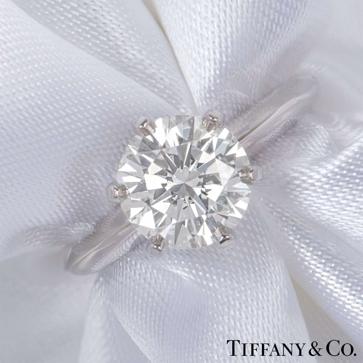 Tiffany & Co. Platinum Diamond Setting Band Ring 2.11ct G/VVS2